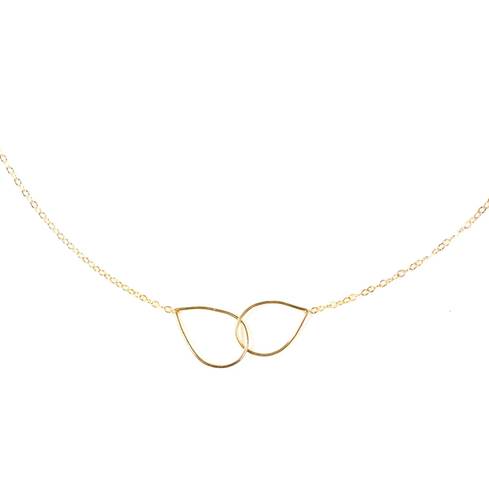 Linked Pear Necklace