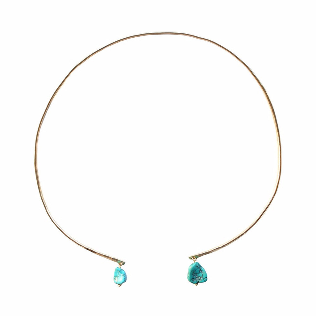 Lover's Collar- Raw Turquoise