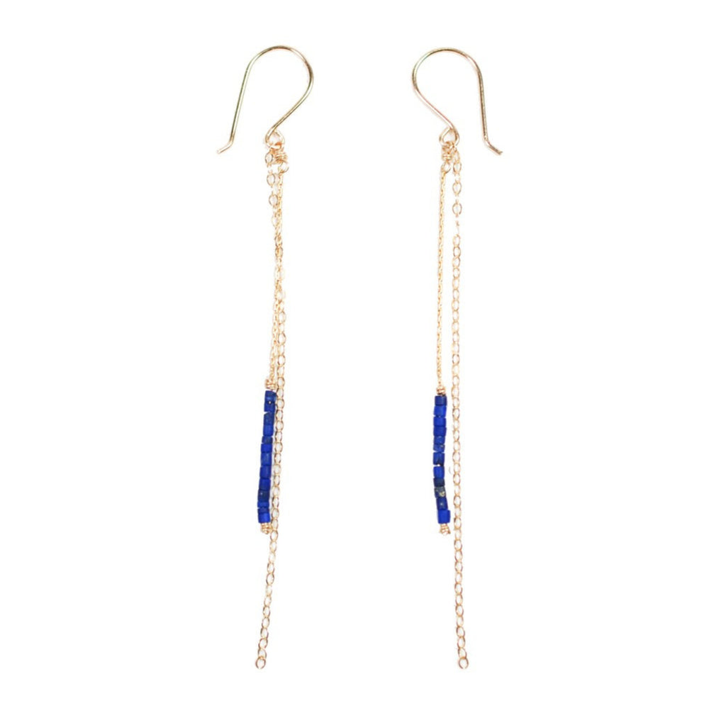 Mermaid Earring- Lapis
