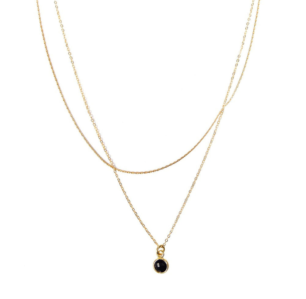 Wishing Well Necklace- Onyx