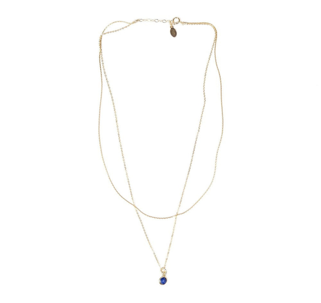 Wishing Well Necklace- Sapphire