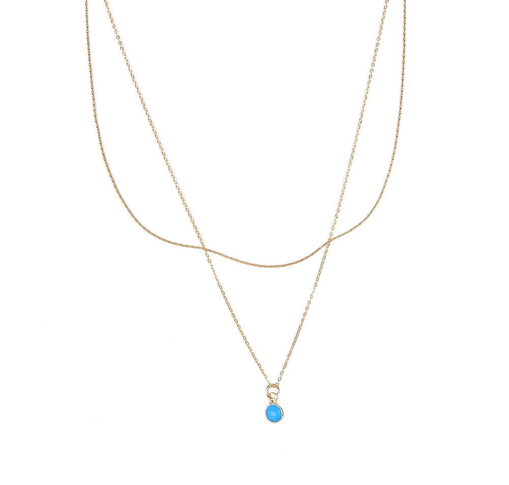 Wishing Well Necklace- Turquoise