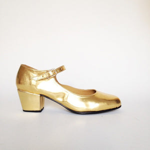 Biba Faux Leather Mary Janes Heels