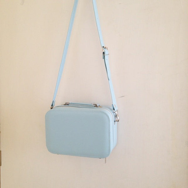 Faux leather Pastels Large Structured Box Shoulder Bag