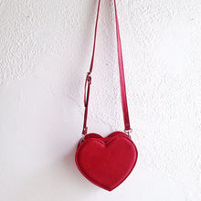 Load image into Gallery viewer, Heart Faux Leather Crossbody bag (Ready to ship)