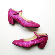 Load image into Gallery viewer, Biba Mary Janes Glitter Heels