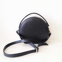 Load image into Gallery viewer, Peggy Circular Faux Leather Crossbody Structured Box Bag