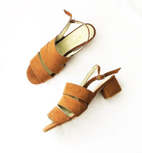 Load image into Gallery viewer, Poppy Suedette Strapped Sandals