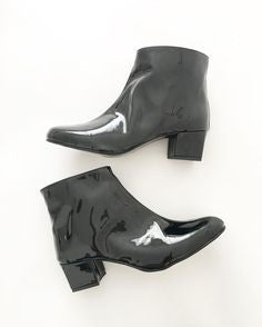 Edie Faux Leather Heeled Ankle Boots