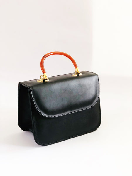 Alyx Acrylic Handle Black Mini Shoulder Bag