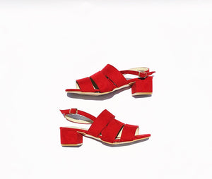 Poppy Suedette Strapped Sandals