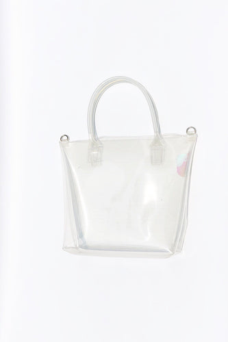 Top Handle Clear Vinyl Tote Bag