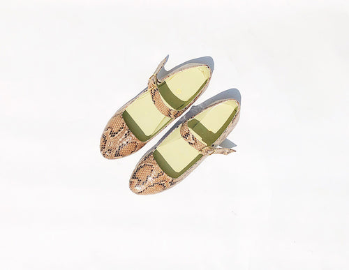 Tessy Mary Janes Animal Print Flats