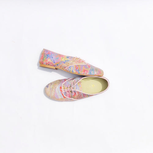 Pony Oxford Rainbow Marbled Suedette