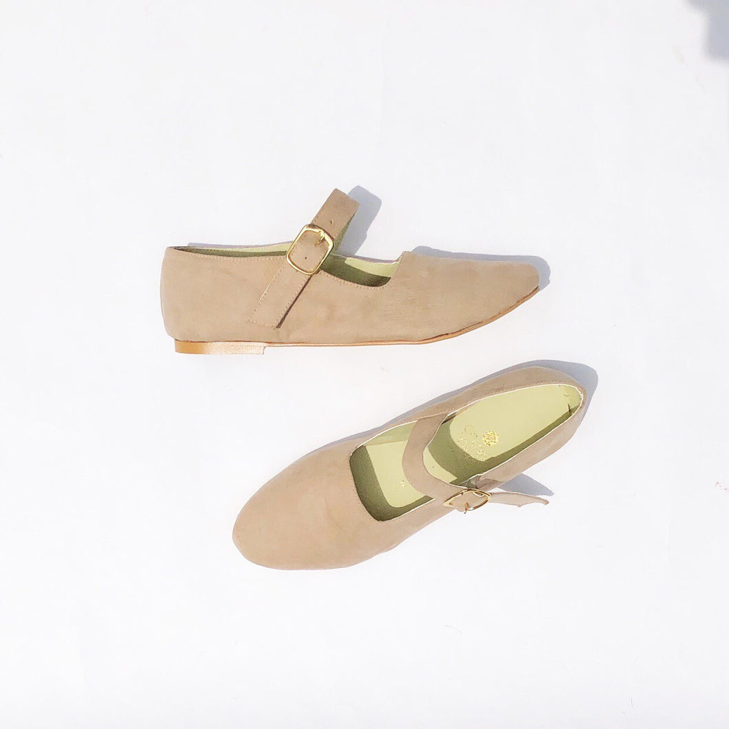 Tessy Mary Janes Suedette Flats