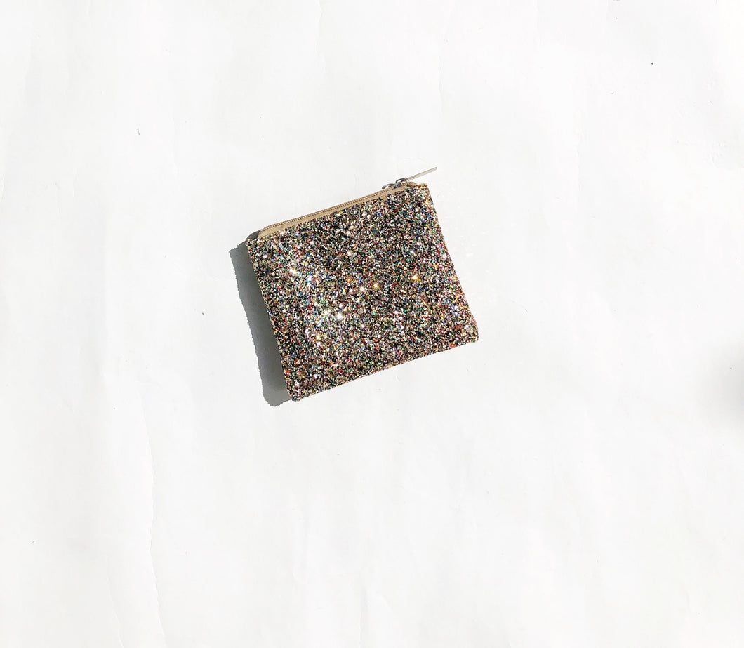 Multicolor Glitter coin purse