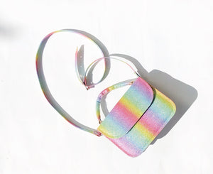 Rainbow Glitter Sofia Crossbody Vegan Mini Bag