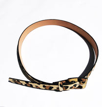 Load image into Gallery viewer, Leopard print faux fur Belt