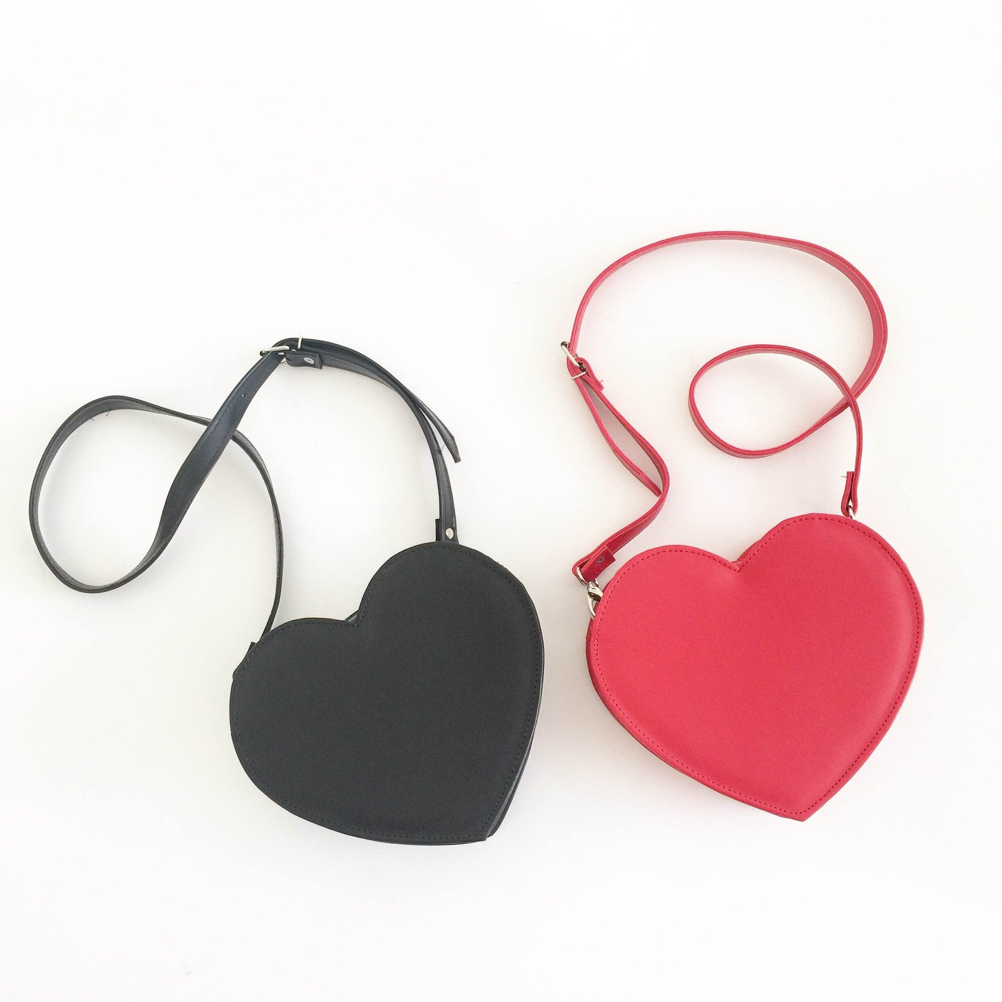 66bd4cd11 ... Load image into Gallery viewer, Heart Faux Leather Crossbody bag (Ready  to ship) ...