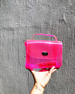 Neon Vinyl Micro Purse Shoulder Crossbody Bag