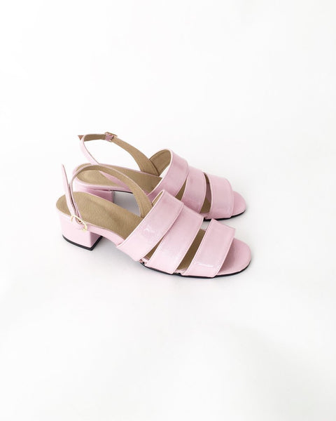 Poppy Faux Leather Strapped Sandals