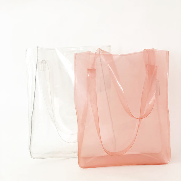 Clear Plastic Tote Bag (Various colors)