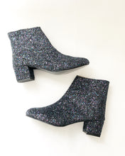 Load image into Gallery viewer, Edie Glitter Heeled Ankle Boots