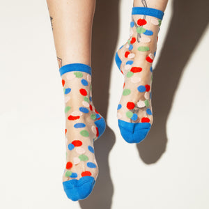 Sheer Dots Ankle Socks