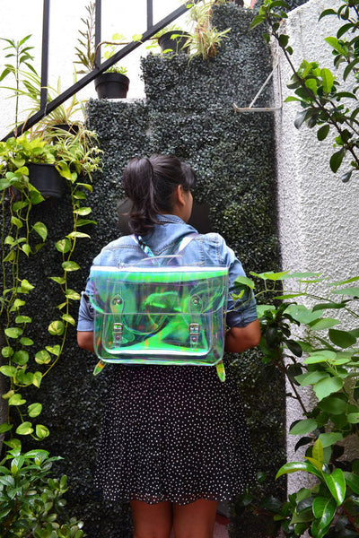 Large bag #3 Holographic Plastic Satchel Backpack (Ready to ship)