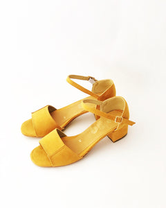 Mary Faux Leather Heeled Sandals