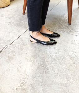 Pointed Flat Slingback