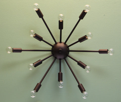 "24"" Midround Sputnik Wall Sconce Light Rubbed Bronze"