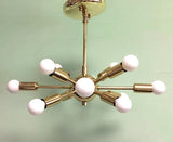 Classic Baby Sputnik Chandelier Polished Brass