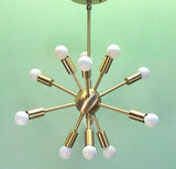 Baby Midround Sputnik Chandelier Satin Brass