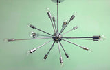 "36"" Midround Sputnik Chandelier Pendant Light Chrome"