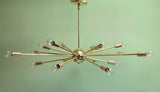 "36"" Classic Sputnik Chandelier Pendant Light Polished Brass"