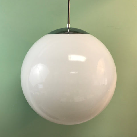 "18"" White Acrylic Globe Pendant Light by Practical Props"
