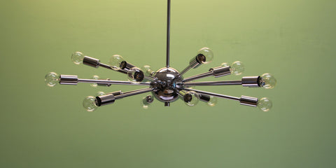 "24"" Classic Sputnik Chandelier Pendant Light Chrome"