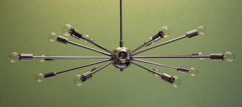 "36"" Classic Sputnik Chandelier Pendant Light Chrome"