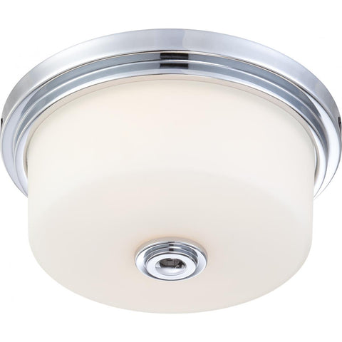 "15"" Classic Chrome Flush Mount Light by Practical Props"