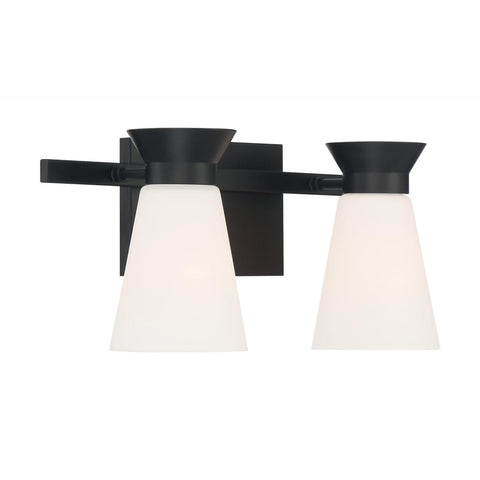 Caleta 2-Light Retro Cone Vanity Wall Sconce by Nuvo Lighting
