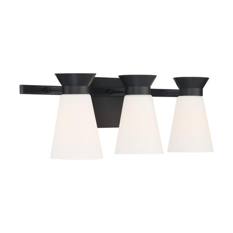 Caleta 3-Light Retro Cone Vanity Wall Sconce by Nuvo Lighting