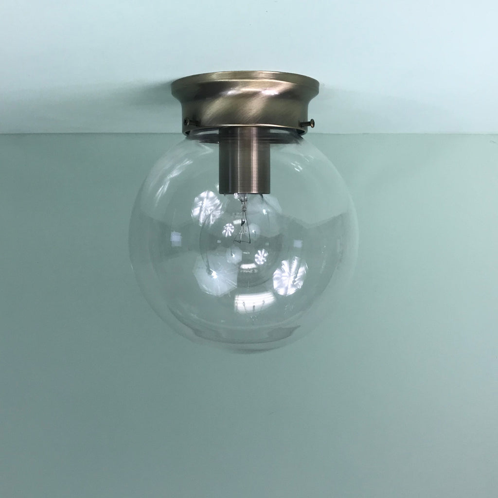 8 Clear Flush Mount Globe Light By Practical Props