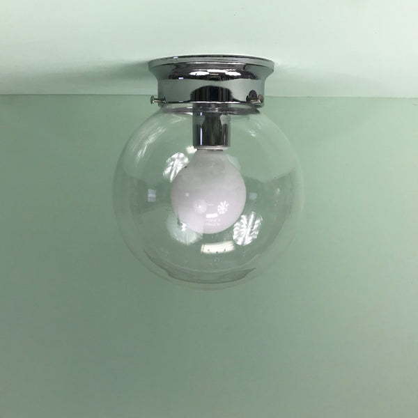 "8"" Clear Flush Mount Globe"