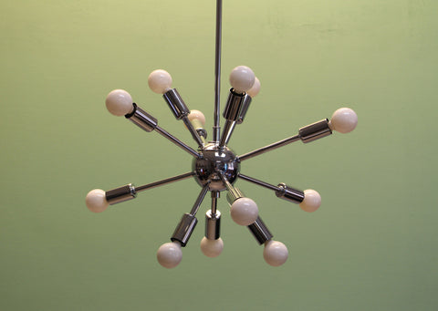 Baby Midround Sputnik Chandelier Chrome