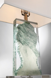 Cleon Lucite Abstract Modern Gemstone Table Lamp with Shade by Lite Source in Jade
