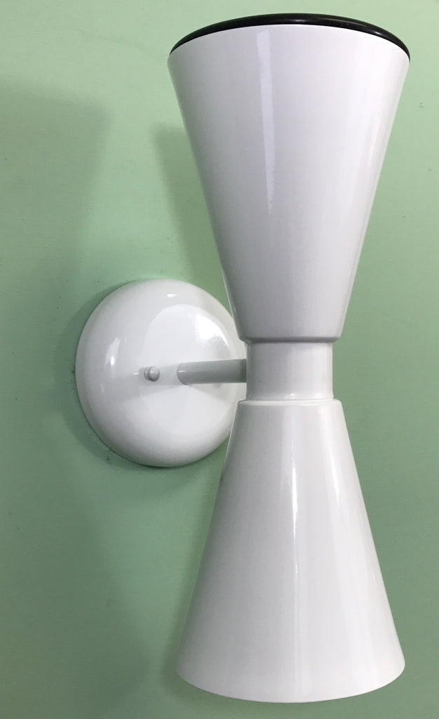 Exterior Dual Cone Bowtie Wall Sconce by Practical Props