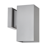 Modern Square Exterior Downlight Wall Sconce Silver