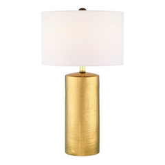 Jacoby Metallic Gold Table Lamp with Linen Shade by Lite Source