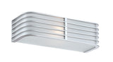 "Babette 12"" Silver Retro Bath Sconce by Lite Source"